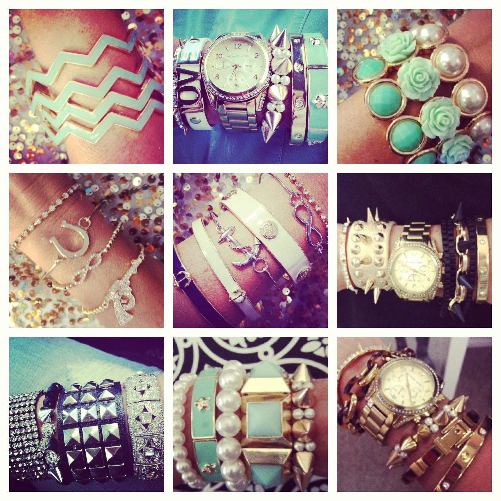 Loving Arm candy!  Pile it on!