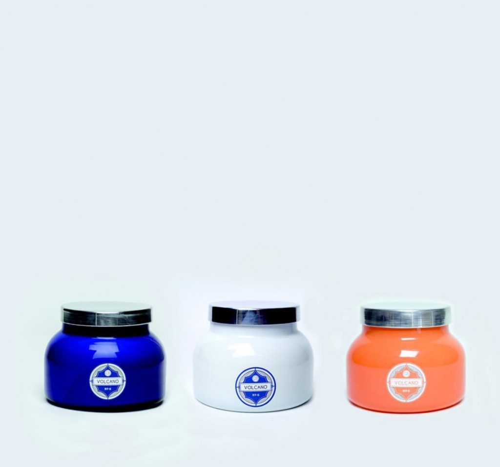 1 scent different colored jars